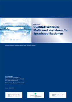 Qualitätskriterien, Maße und Verfahren für Sprachapplikationen – Ein Leitfaden